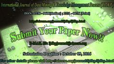 International Journal of Data Mining & Knowledge Management Process (IJDKP)     ISSN: 2230 - 9608[Online]; 2231 - 007X [Print]     http://airccse.org/journal/ijdkp/ijdkp.html    Paper Submission     Authors are invited to submit papers for this journal through E-mail ijdkpjournal@airccse.org. Submissions must be original and should not have been published previously or be under consideration for publication while being evaluated for this Journal.    Contact Us      Here's where you can reach…