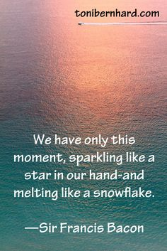 We have only this moment ......Sir Francis Bacon quote