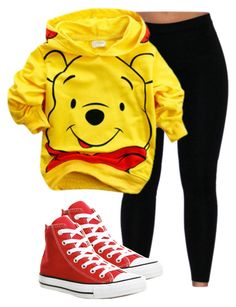 """Winnie"" by grungetumblrtrash ❤ liked on Polyvore featuring Converse"