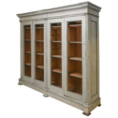 Late 19th Century Very Large Painted Bookcase at 1stdibs