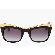 ELIZABETH AND JAMES Gold-Plated Limited Edition Valenti Sunglasses ($425) ❤ liked on Polyvore