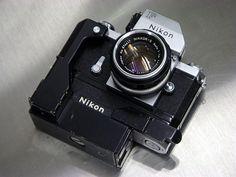 Nikon F, Nippon Kogaku Nikkor-S AUTO 50mm F/1.4, Photomic FTn Meter Finder, F36 Motor, Cordless Battery Pack | Flickr - Photo Sharing!