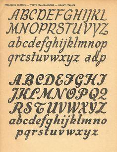 100 alphapub p41, Heavy Italic Script