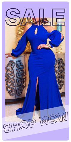 Royal Blue Evening Dress, Evening Dresses, Casual Dresses For Women, Clothes For Women, Formal Dresses, Girls Black Dress, Black Girl Aesthetic, Black Girl Fashion, Black Girls Hairstyles