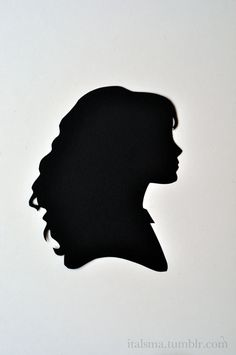 Hermione silhouette for my someday silhouette wall.