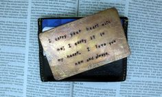 a note to your husband that won't fall apart. ♥ love this idea! need to order one before he deploys.