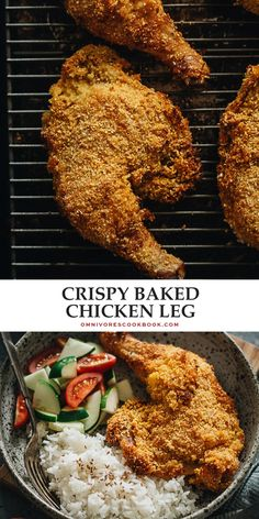 Crispy Baked Chicken Legs | Omnivore's Cookbook Walnut Chicken Recipe, Best Chicken Recipes, Turkey Recipes, Delicious Dinner Recipes, Lunch Recipes, Cookbook Recipes, Healthy Recipes, Crispy Baked Chicken Legs, Fried Chicken