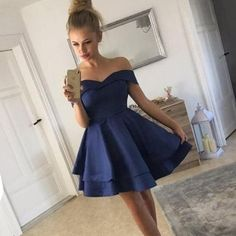LP0236 Off the Shoulder Short Prom Dresses Royal Blue/Burgundy ,Short Homecoming Dresses,Semi Formal Junior Graduation Dress