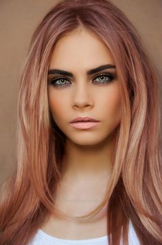 love these hues of pink through her hair <3