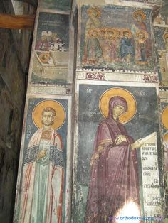 Frescoes Old Nagorichno 12-14 centuries. Macedonia. Part IX