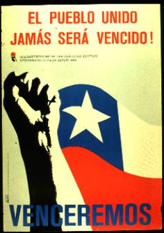 Collection of East German posters supporting solidarity with Chile in and against Pinochet and the USA. Protest Posters, Political Posters, Political Art, Political Figures, Victor Jara, Chile, Grafic Art, Ernesto Che, Puerto Rico History