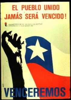 Colección de carteles de Alemania Oriental. Solidaridad con Chile en los '70s y '80s y contra Pinochet y los EE.UU.