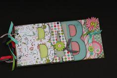 Baby Scrapbook Album. Pre-made from chipboard!
