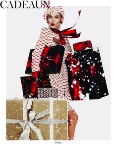 """Joyeux Noel"": Some Late Christmas Presents with Bianca Balti and Jasmine Tookes by Giamaolo Sgura for Vogue Paris"