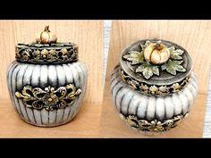 (763) DIY /Vintage glass jar decoration idea/Jar crafts - YouTube Bottle Vase, Bottles And Jars, Glass Jars, Mason Jars, Nifty Crafts, Jar Crafts, Diy Glasses, Cold Porcelain Flowers, Clay Jar