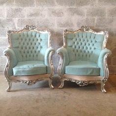 Antique French Louis XVI 5 Piece Chairs by SittinPrettyByMyleen
