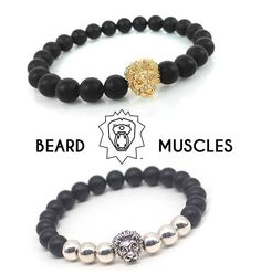 via @beardmuscles: Check out our Bracelet Collection! The lion with his manes represents the hard working bearded man and his undefeatable character! Free worldwide shipping  So be quick and view the whole collection on www.beardmuscles.com or click on the link in our bio @beardmuscles