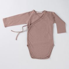 Luxurious Organic Infant and Baby Clothing: onesies : Pointelle Kimono Onesie