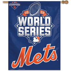 New York Mets 2015 National League Champions 27x37 Vertical Flag by Wincraft