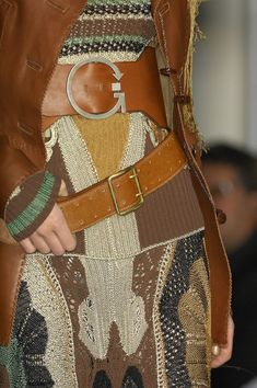 ACCESSORIES Jean Paul Gaultier s.s 2012.  Love the detail in the knit and color combo.