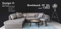 Hoekbank 3T XL Design-It. Stel zelf je eigen opstelling samen