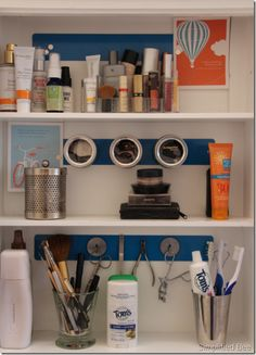 Organized Medicine Cabinet w Magnetic Strips from 3 by 3 Seattle.