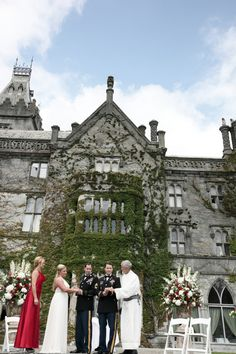 Ceremony with firstman and firstmaid Wedding Ceremonies, Wedding Venues, Adare Manor, West Coast Of Ireland, Outdoor Ceremony, Luxury Wedding, Castles, Real Weddings, Wedding Planner