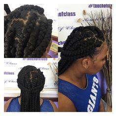 #naturalhair #extensions #cornrows #blackhair #summerhair #hairstyles #zigzag part touch of class beauty salon 7183424152