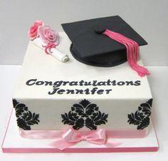 Pink Grad Cake