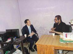 जापानी दूतावास के प्रथम सचिव मौलाना कल्बे जवाद नकवी से मिले