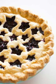 The BEST Blueberry Pie you'll ever make! | browneyedbaker.com