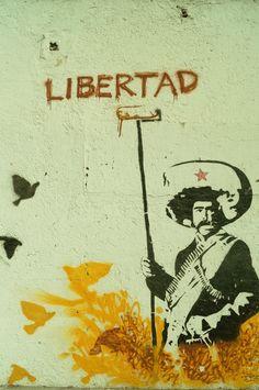 maybe something with freedom Propaganda Art, Stencil Art, Graffiti, Amazing Art, Murals Street Art, Illustration Art, Art, Mexican Art, Artwork Painting