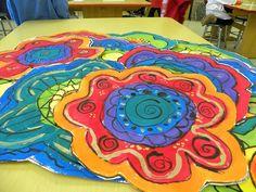 3rd Grade Flowers by Paintbrush Rocket, via Flickr