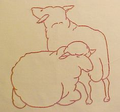 Sheep block of the McKim Farm Quilt   Flickr - Photo Sharing!