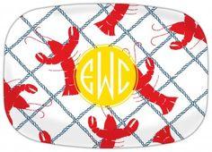Rock Lobster Personalized Melamine Platter #summerfun
