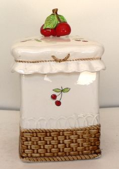 Cherry Cookie Jar...this is adorable, I don't know where I would put ANOTHER cookie jar though! LOL