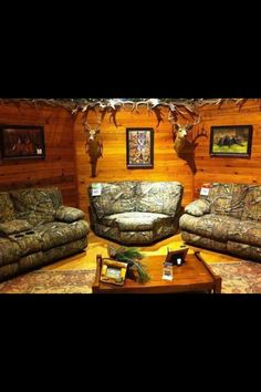 only room aloud to look like this is the man cave. not in my living room! Camo Living Rooms, Camo Rooms, My Living Room, Camo Room Decor, Camouflage Bedroom, Country Man Cave, Country Girls, Camo Furniture, Furniture Ideas
