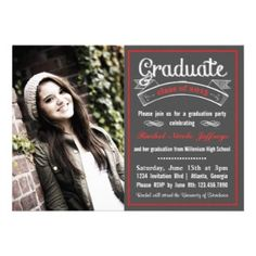 Laurel Wreath Graduation Announcement Black  Announcement