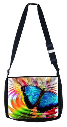 Butterfly ripple Rosie Parker Inc. TM Medium Sized Messenger Bag 11.75' x 15.5' >>> Want to know more, click on the image.