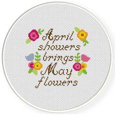FREE April Showers Cross Stitch Pattern