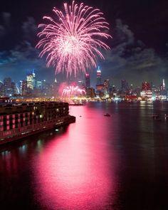 Fireworks Over Midtown Manhattan