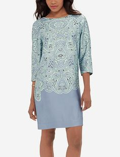 Border Print Shift Dress from THELIMITED.com