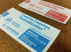 Mirá las entradas que imprimimos para todos los que quieran disfrutar del teatro local presentando su ID!