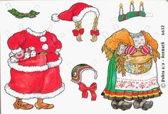 Bonecas de Papel: Papai Noel