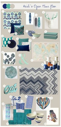 Love the color scheme - Mood Board: Heidi's Open Floor Plan from Cape 27