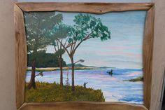 Never ending river II  acrylic on veneer by Driftinn on Etsy, $65.00