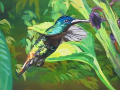 tropical forest painting - Cerca con Google