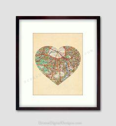 Mapa em coração