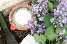 All natural bath products | 3 ingredient lilac sugar scrub recipe with free printable labels!