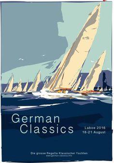 Für das 'German Classics 2016'-Plakat hat Hinnerk Bodendieck Schärenkreuzer als Motiv gewählt. Sie sind die diesjährigen 'special guests'